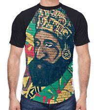 Haile Selassie Rasta Wall Art Men's All Over Baseball T Shirt - Reggae Festival