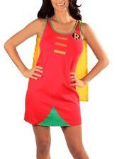 Juniors DC Comics Batman Superhero Robin Foil Costume Sleep Tank Dress with Cape