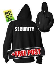 SECURITY JACKET / ZIP HOODIE BIG MENS SIZES XL/2XL/3XL/4XL/5XL/6XL/7XL/8XL/9XL