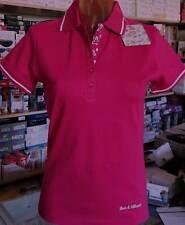 Polo donna Baci & Abbracci con logo basso e profili in contrasto art BA02605