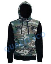 Men's US Size Camo Varsity Hoodie Hunting Dope Camouflage Jacket Sweater