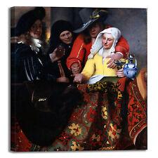 Vermeer la mezzana design quadro stampa tela dipinto telaio arredo casa