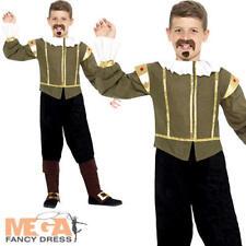 Shakespeare Boys Fancy Dress Tudor Medieval World Book Day Kids Childs Costume