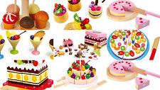 kids fake FOOD pretend play shops tea set icecream tarts cake sweets party NEW