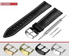 Si adatta A. LANGE SOHNE Nero & Cinturino Orologio Vera Pelle Cinturino Per Fibbia Fibbia