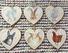 País de decoración de corazón Animal Diseño Estampado Acuarela rústico Liebre Conejo De Ganso