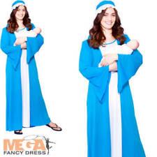Virgin Mary Ladies Fancy Dress Christmas Xmas Nativity Womens Adults Costume New
