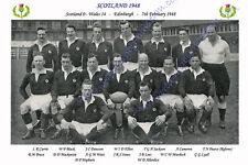 SCOTLAND 1948 (v Wales) RUGBY TEAM POSTCARD