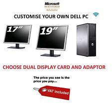 Fast Cheap Dell Optiplex Window 10 or 7 Warranty DUAL DISPLAY Wifi PC COMPUTER