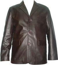 UNICORN LONDON  Mens Classic Blazer Brown Leather Jacket #B6