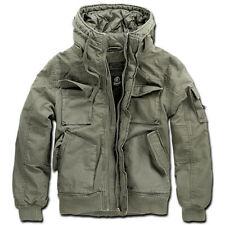 Giacca Brandit Vintage Bronx Stile Militare Corto Parka Cappotto di Campo Oliva