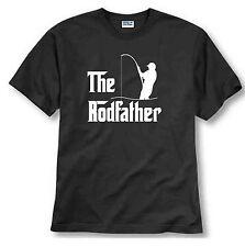 The Rodfather Pun Parody Fishing Fisherman Humor Funny Joke Mens T-shirt