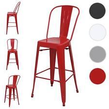 Set 4x sedie sgabelli da bar HWC-A73 design moderno metallo 45x50x117cm