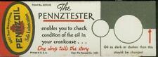 Ink Blotter Pennzoil Oil Pennztester Oil Check PA 1935