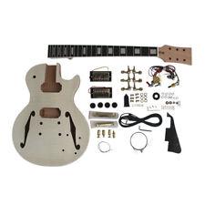 Coban Guitars R/H LP Semi Hollow Electric Guitar DIY Kits Flamed Maple No Solder