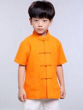 100% Fait Main Chemise Chinoise Garçon Vêtement Kung Fu Tai Chi Mode Enfant #105