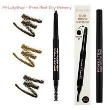 Makeup Revolution BROW DEFINER Eyebrow Precision Pencil & Spoolie Brush Sealed
