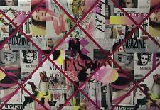 Fashion Magazine Vogue Glamour / Flag Fabric Pin / Memo / Notice / Memory Board