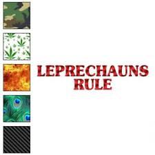 Leprechauns Rule Decal Sticker Choose Pattern + Size #2518