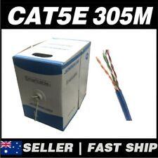 1 x 305m Blue Cat5 Cat5E 100Mbps Solid Core RJ45 Ethernet Network Patch Cable
