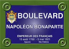 PLAQUE de RUE PARIS NAPOLEON BONAPARTE EMPEREUR FRANCE HISTOIRE en ALU 20x30 cm