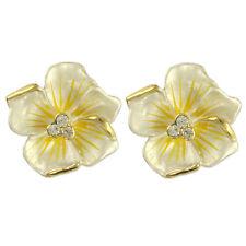 Earrings Made With Swarovski Elements Cute Crystal Hawaiian Hibiscus Flower