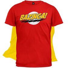 Big Bang Theory - Bazinga Mens T-Shirt With Cape Red