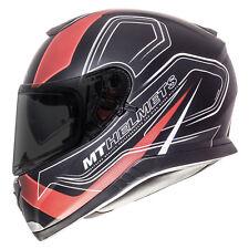 MT Thunder 3 SV Trace Full Face ACU Motorbike Helmet Sharp 4 Star Matt Black Red