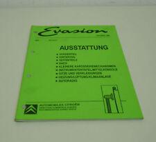 Werkstatthandbuch Citroen Evasion Ausstattung Dach Heizung Klima etc. 10/1994