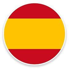 2 x 10cm Spanish Flag Vinyl Sticker Decal Laptop Car Bike Travel Tag Spain #9101