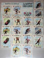 UMM al QIWAIN 1968 233-40 A-B Block 12 Winter Olympics Grenoble Ice Hockey MNH