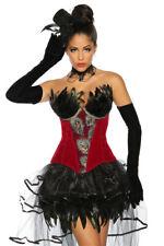 wunderschöne Burlesque-Corsage rückseitige Schnürung Korsage Korsett mit Federn