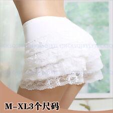 Women Girls Elastic Safety Lace Under Shorts Cotton Pantie Boyshorts Skorts M-XL