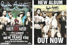 Jane's Addiction Marilyn Manson Concert Handbill Nyc