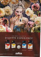 PUBLICITE ADVERTISING 2009     LAVAZZA  café en dosettes