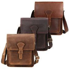 Men Real Leather Business Shoulder Messenger Bag Crossbody Bag Satchel Sling Bag
