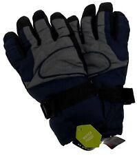 Athletech Mens Blue Gray Black Ski Gloves 3M Thinsulate Insulation Waterproof