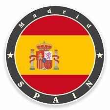 2 X 10 Cm Madrid España pegatina de vinilo viaje Equipaje Etiqueta Bandera Mapa portátil coche # 9513