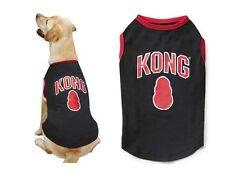 KONG Dog Tank Top Puppy Tee Shirt T-Shirt Pet Lightweight Tag BLACK Size: Misc