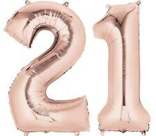 doré rose âge 21 hélium géant Ballon PLAT CHIFFRES 21st Fête d'anniversaire