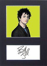 BILLIE JOE ARMSTRONG Green Day Pop Art Signed Mounted Autograph Photo Prints A4
