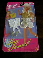 1993 Mattel BARBIE SUN JEWEL Fashion OUTFIT Swimsuit & GIRLS BRACELET MIP 8pcs