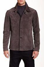PORTS 1961 Genuine Leather Suede Jacket, Slate Grey-970, MSRP $2,295