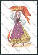 Ancona Marche Costumi cartolina D8942 SZA