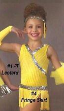 Pocket Full Of Sunshine Dance Costume 2pc Set Leotard & Fringe Skirt Child 2-3yr
