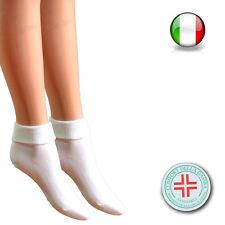 12 Paia di calzino donna sanitario a bassa compressione 100% cotone