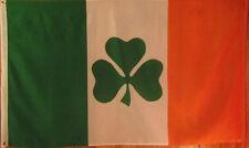 SHAMROCK IRISH FLAG - IRELAND - GREEN, WHITE, & ORANGE -  3' X 5' POLYESTER