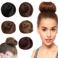 Clip In Hair Extensions Bun 100% Remy Human Hair Scrunchie Ponytail Women Updo Z