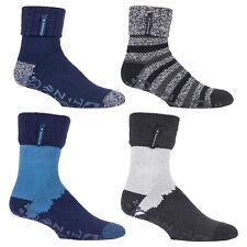 HEAT HOLDERS - Mens Thermal Fluffy Lined Non Slip Indoor Slipper Bed Socks