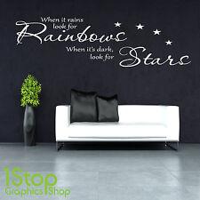 Quando Piove Muro Adesivo Citazione - Salotto Camera da Letto Arcobaleno